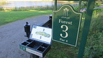 Golf map & <br>logo signs / boxes